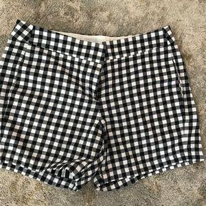 Navy and White Gingham Chino Shorts